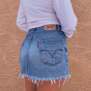 Vintage Levis Cutoff Skirt